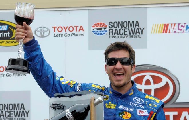Martin Truex Jr. celebrates after winning last Sunday's Toyota/Save Mart 350 at Sonoma Raceway.