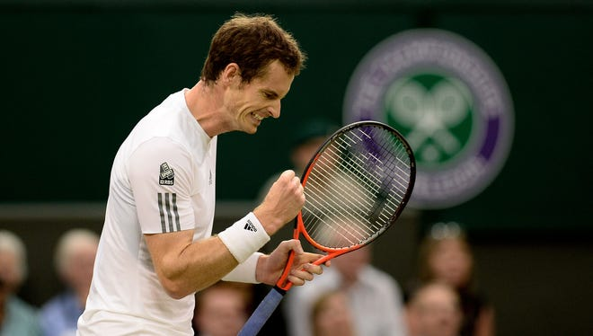 Andy Murray of Britain is into the fourth round after defeating Tommy Robredo of Spain.