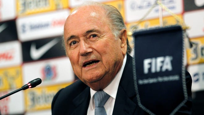 FIFA President Sepp Blatter says at least $100 million of the World Cup's profits will go back to host-country Brazil.