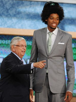 Brazilian Lucas Nogueira was picked 16th by the Hawks.