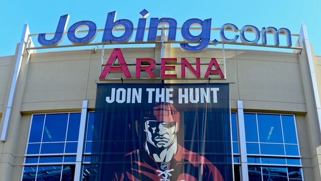General view of Jobing.com Arena prior to a Phoenix Coyotes game.
