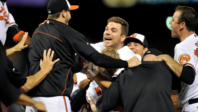 Chris Davis has been in the middle of many big hits for the Orioles this season.