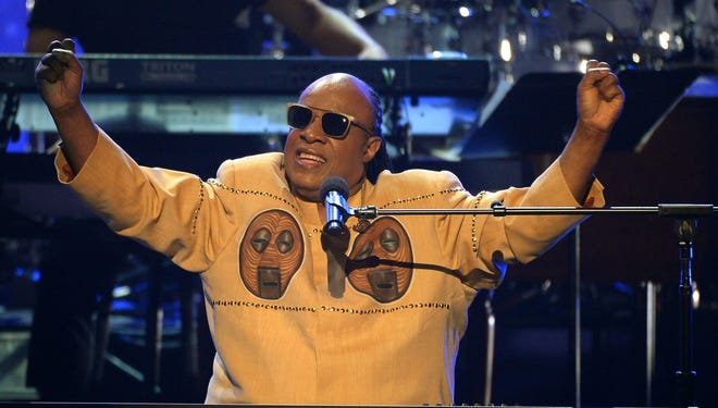 Stevie Wonder had the audience on its feet during his segment of the Wilson tribute.
