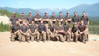 This undated picture provided courtesy of  KPHO-TV/CBS-5-AZ.COM shows the Prescott Granite Mountain Hotshot crew of Prescott, Arizona.