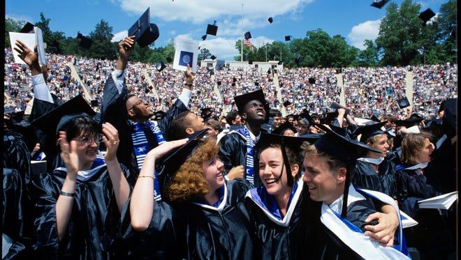 Graduates in in Durham, N.C.