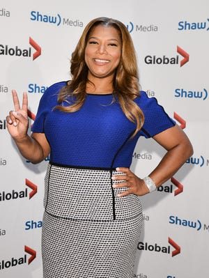 Queen Latifah touts her show at the upfronts in New York on June 5.