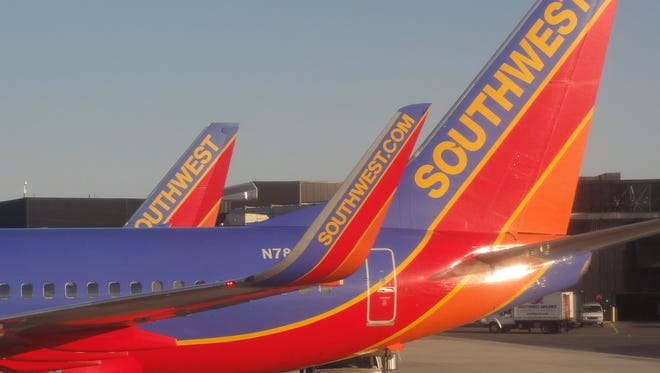 Southwest Airlines aircraft as seen at Baltimore/Washington International Airport (BWI) on the morning of March 19, 2011.