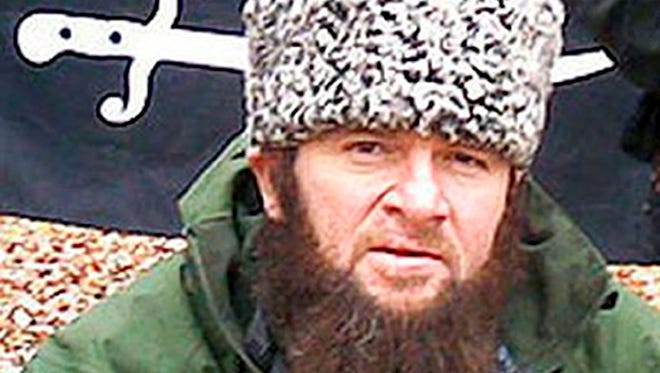 In this screen shot taken in Moscow, Dec. 2, 2009 of a  computer screen showing an undated photo of a man identified as Chechen separatist leader Doku Umarov posted on the Kavkazcenter.com site. Doku Umarov, a leading Chechen rebel on Tuesday called on Islamist militants in the North Caucasus to disrupt the upcoming Winter Games in the Black Sea resort of Sochi.