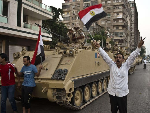 Egypt's Morsi and military on collision course