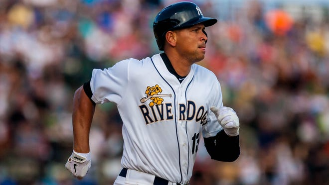 Alex Rodriguez went hitless in four rehab at-bats with the Charleston RiverDogs.