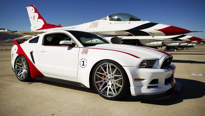 The engineering and design teams at Ford Motor Company have produced a unique U.S. Air Force Thunderbirds Edition 2014 Ford Mustang GT