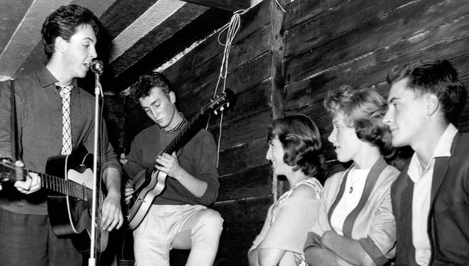 PAUL MEETS JOHN   On July 6, 1957, Paul McCartney, 15, turned up at a fair in honor of the Rose Queen at St. Peter's Church in Liverpool. There, he met 16-year-old John Lennon, who had taken the stage with a few mates to hammer out skiffle songs. He would soon be asked to join Lennon's band, The Quarrymen (seen here at the Casbah in 1959), thereby founding one of the greatest songwriting partnerships of all time.