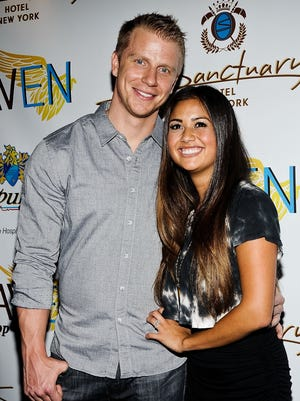 Sean Lowe and Catherine Giudici attend The Sanctuary Hotel one-year anniversary party on June 11 in New York