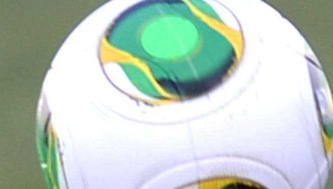 The official ball of the 2013 Confederations Cup in Brazil.