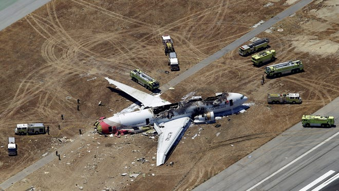 Asiana Flight 214 lost it's tail and burned after crash landing at the San Francisco International Airport.