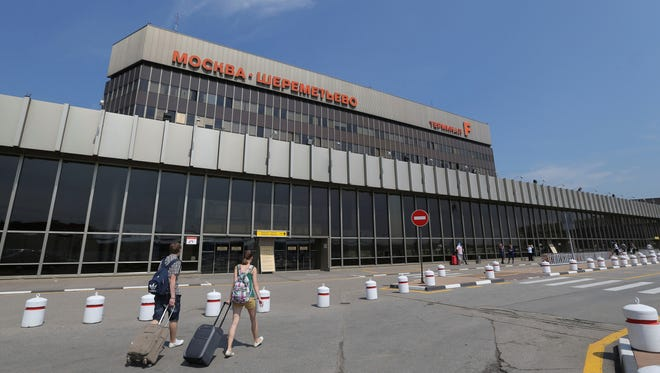 Passengers walk at Moscow's Sheremetyevo airport outside Moscow, Russia. NSA leaker Edward Snowden is believed to be stuck in the transit zone of Moscow's Sheremetyevo airport since his arrival from Hong Kong on June 23.