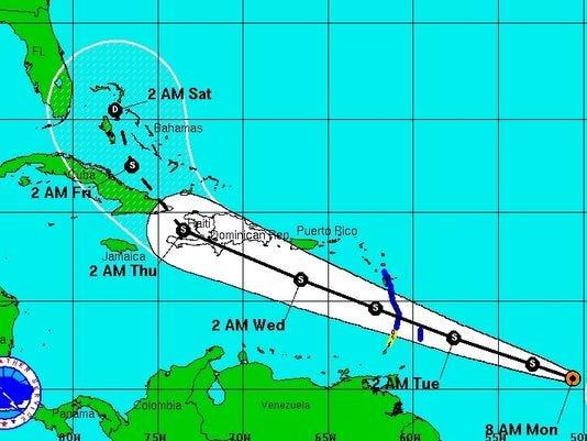 Tropical Storm Chantal forms in Atlantic