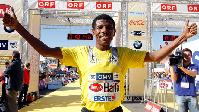 Ethiopia's long distance runner Haile Gebrselassie set over two dozen world records from 5,000 meters to the marathon.