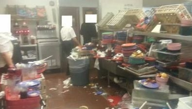 A Reddit user named GCWhistleblower posted photos purporting to show the restaurant's kitchen overflowing with garbage and food.