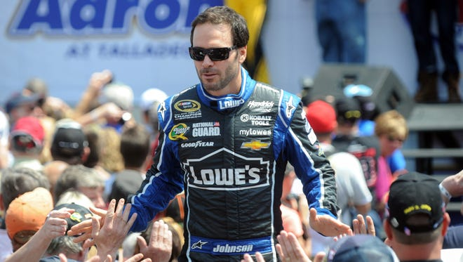 Jimmie Johnson, shown here May 5 at Talladega Superspeedway, has won four races this season to tie Matt Kenseth for the series' lead.