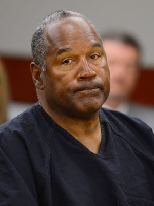 O.J. Simpson appears at an evidentiary hearing in Clark County District Court on May 17 in Las Vegas.