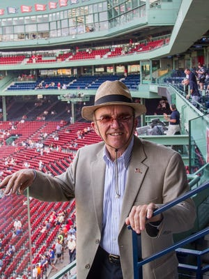 """Jack Roush, shown here at a Boston Red Sox game, June 25 at Fenway Park, is known in racing circle's as """"The Cat in the Hat."""""""