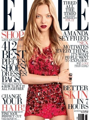 Amanda Seyfried talks sex in 'Elle' mag's August issue, out July 23.