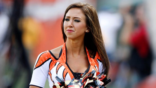 Sarah Jones used to captain the Bengals cheerleading squad.