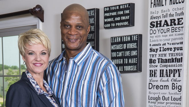 Darryl and Tracy Strawberry at home in St. Peters, Mo., 30 miles from St. Louis