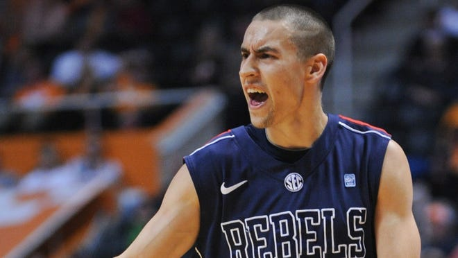 Marshall Henderson during the second half against the Tennessee Volunteers at Thompson-Boling Arena.