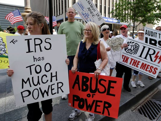 Tea Party protest IRS
