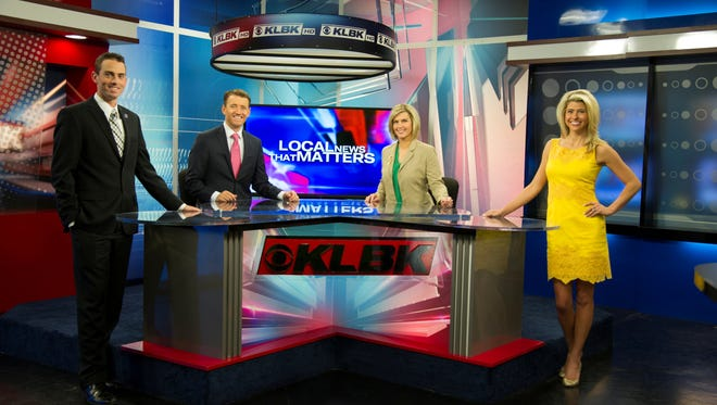 Nexstar's KLBK news studio in Lubbock, Texas, showing Matt Roberts, Evan Onstot, Terri Furman and Nikki-Dee Ray.