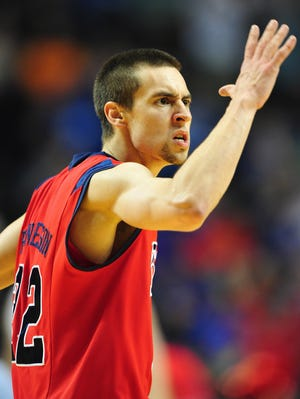 Mississippi Rebels guard Marshall Henderson (22) reacts during a game last season.