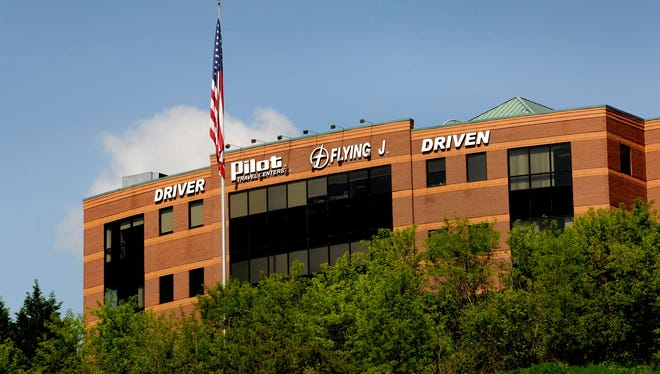 An April 30 file photo shows the Pilot Flying J corporate offices in Knoxville, Tenn.