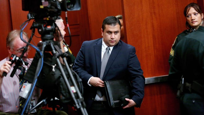 George Zimmerman enters the courtroom June 13 in Seminole County, Fla.