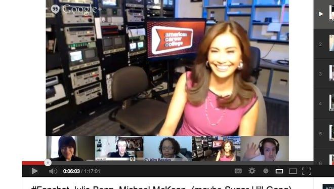 Maria Quiban hosting a Google Hangout on Air.