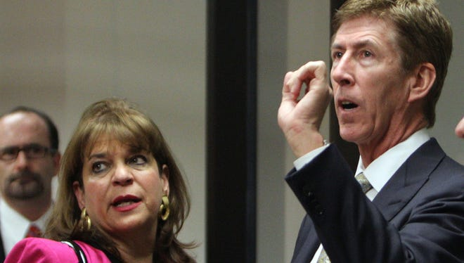 Attorney Mark O'Mara is shown with special prosecutor Angela Corey in this file photo.