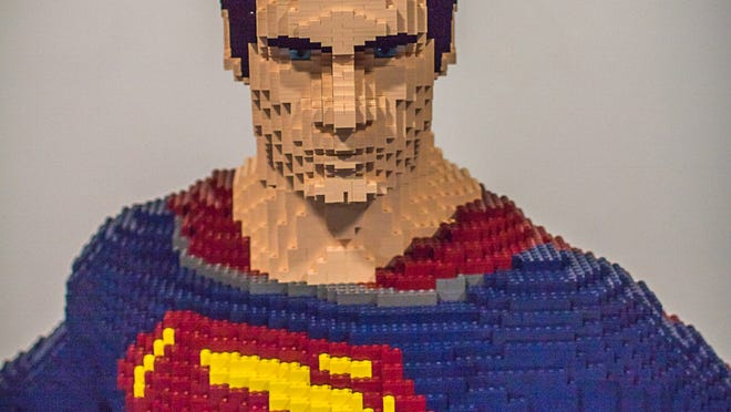 """Henry Cavill gets the LEGO treatment this week with a life-sized Superman model based on the movie """"Man of Steel"""" that will be in display at Comic-Con."""