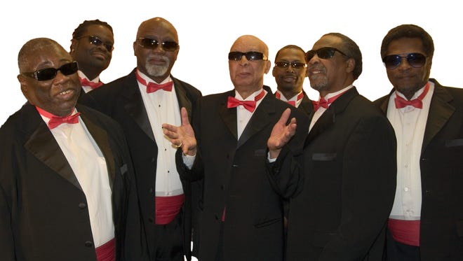 Bishop Billy Bowers, third from the left, performed with the Blind Boys of Alabama at the Alabama Music Hall of Fame ceremonies in Montgomery in 2010.