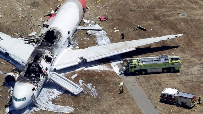 An Asiana Airlines plane crashed at the San Francisco airport.