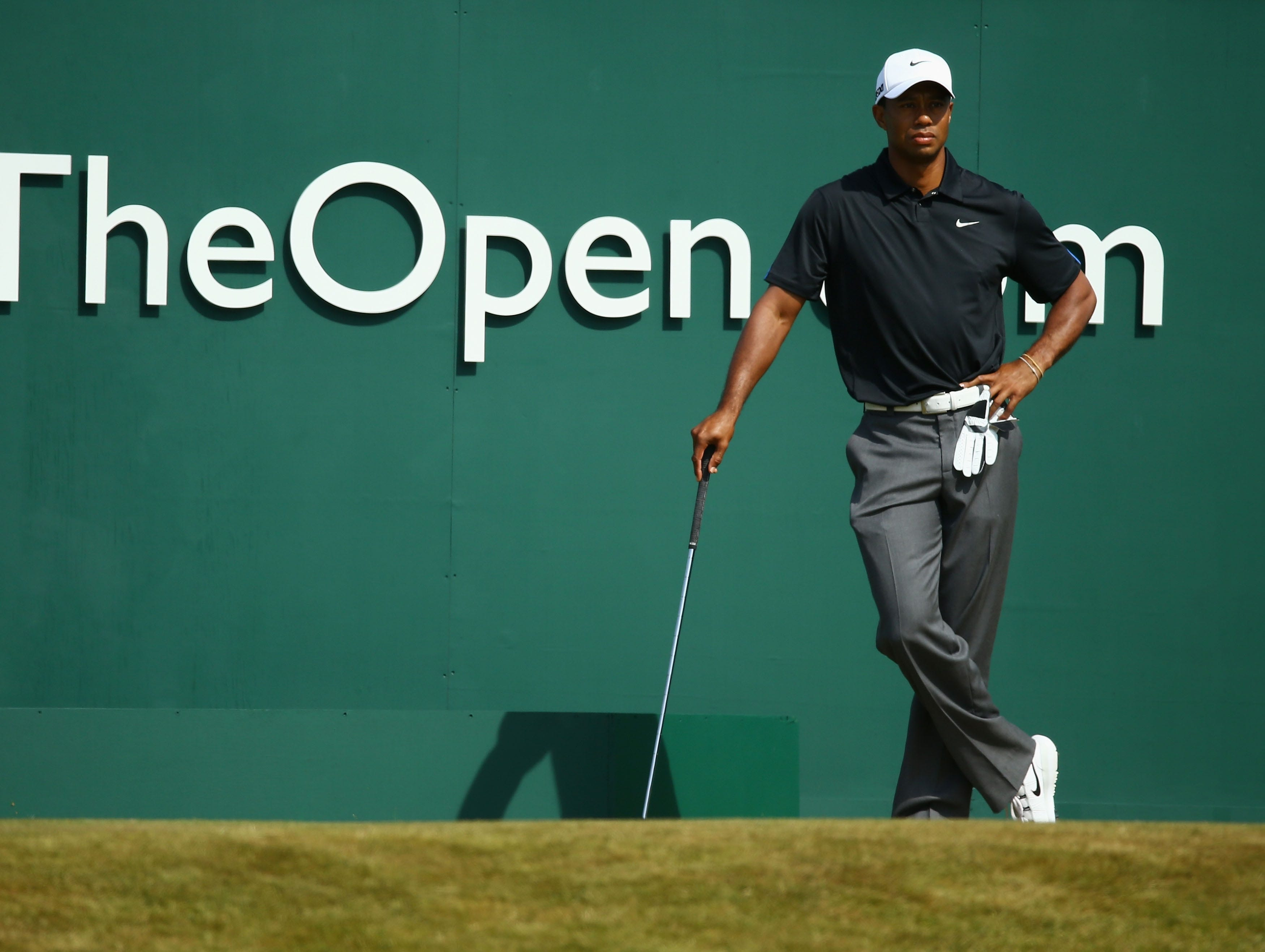westwood leads  tiger two shots back at british open