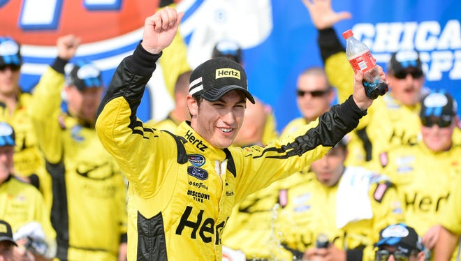 Joey Logano won his second Nationwide race of the season.