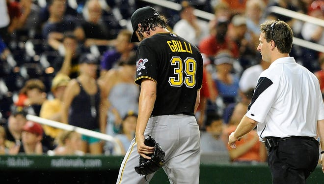 Pittsburgh Pirates closer Jason Grilli went  on the 15-day disabled list with a strained right forearm.