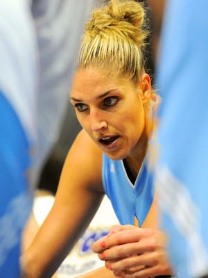 Sky star Elena Delle Donne, shown in June, had a concussion Wednesday.