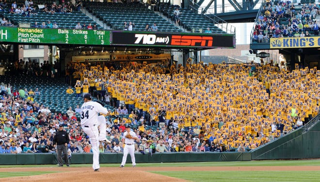 King's Court comes to life, spilling over three sections down the left-field line, when Mariners ace Felix Hernandez takes the mound.
