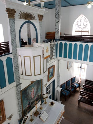 St. Paul Lutheran's balcony pulpit is said to be the highest in Texas.