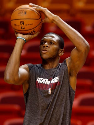 Heat forward James Jones specializes in three-point shooting.