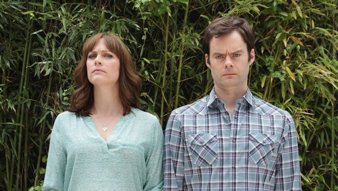 'Saturday Night Live' alumnus Bill Hader and his wife, Maggie Carey, promote their new movie, 'The To-Do List.'