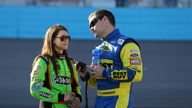Danica Patrick, left, and Ricky Stenhouse Jr. somehow have managed dating and racing each other seamlessly.