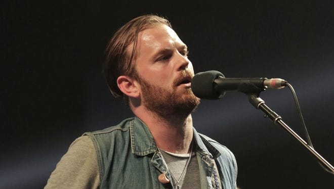 Caleb Followill of Kings of Leon performs during the Rock for Oklahoma Benefit 3 in Oklahoma City.